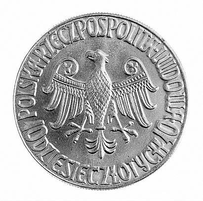 10 złotych 1964, Kazimierz Wielki na tronie, bez napisu...