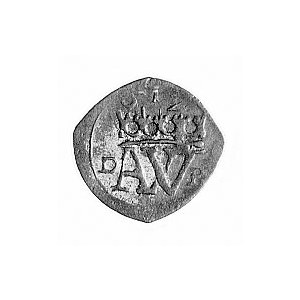 halerz 1612, Aw: Monogram, poniżej data 612, w polu lit...