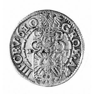 3 krajcary 1610, Aw: Popiersie i napis A.W.D.G.I.(3).S....