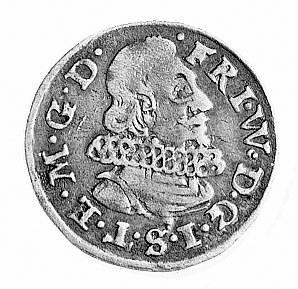 trojak 1624, Aw: Popiersie i napis FRI.W.D.G.I.S.T.E.M....