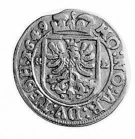 3 krajcary 1649, Skoczów, Aw: Popiersie Ferdynanda III ...