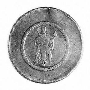 ciężarek 2 dukatów 1739, Aw: Postać cesarza w stroju ko...