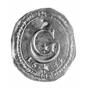 Görlitz, żeton brakteatowy 1684; Duża litera G, w niej ...