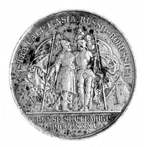Prusy, medal L. Helda wybity z okazji manewrów rosyjsko...