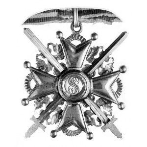 Order Św. Stanisława - krzyż z mieczami, III klasa, brą...