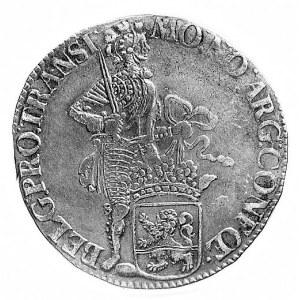 Silver dukat 1735, Overijssel, j.w., Delm.988, Dav.1842