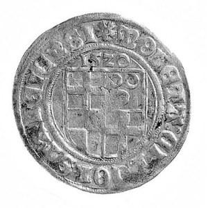 batzen 1520 z tytulaturą cesarza Karola V, Aw: Herb mia...