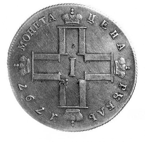 rubel 1797 , Aw: Poczwórny monogram w kształcie krzyża,...