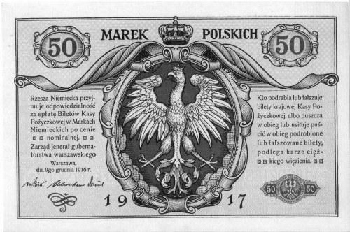 50 marek polskich 9.12.1916, \jenerał, Pick 5,I,1
