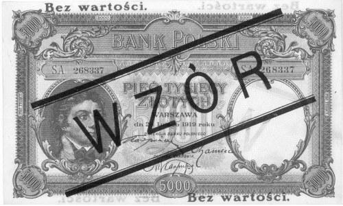 5.000 złotych 28.02.1919, WZÓR, Pick 60