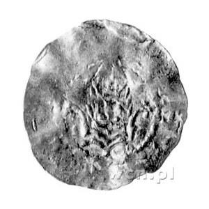 Bardo 1031- 1051, denar, Aw: Ukoronowana głowa na wpros...