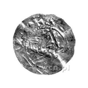 Siegfried 1060- 1084, denar, Aw: Popiersie biskupa z pa...