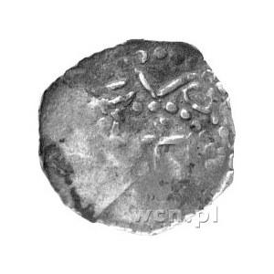denar, Aw: Krzyż i napis w otoku, Rw: Krzyż i trójkąty ...