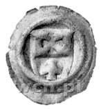 Elbląg, brakteat; Herb Elbląga, Gum. 465, Bahrfeldt 920...