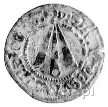 wit- mennica Strzałów przed 1381 r., Aw: Strzała i napi...