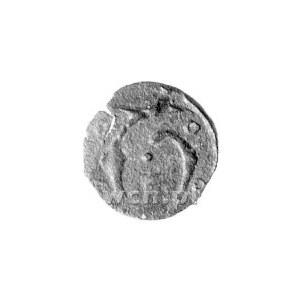 halerz 1455-1460, Aw: Litera T i cztery kółka w polu, R...