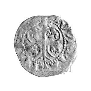 Visby, fenig (örtug) około 1380- 1390, Aw: Liściasty mo...