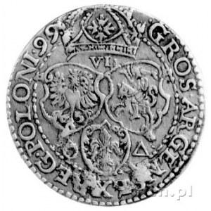 szóstak 1599, Malbork, odmiana z dużą głową króla, Kurp...