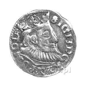 trojak 1594, Wschowa, na awersie znak ruszt na końcu na...