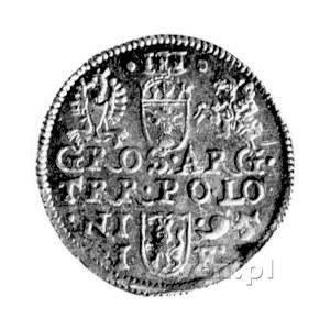 trojak 1595, Olkusz, Kurp. 791 R, Wal. LXVI 6, rzadka, ...