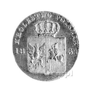 10 groszy 1831, Warszawa, łapy orła zgięte, bez kropki ...