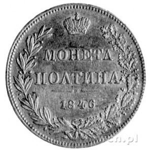 połtina 1846, Warszawa, omyłkowy napis, Plage 449, odmi...