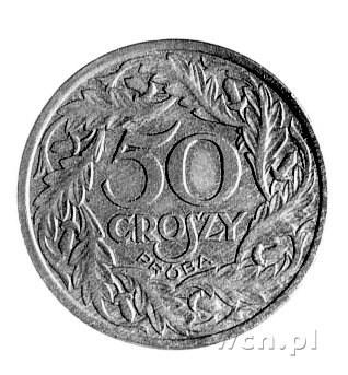 50 groszy 1938, Parchimowicz P-119 a, wybito 1 sztukę, ...
