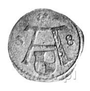 denar 1558, Królewiec, Bahr. -, Neumann 49, rzadki.