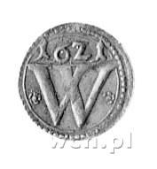 halerz 1621, Wrocław, F.u S. 3473, miedź, bardzo rzadka...