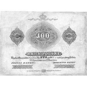 100 złotych 1830, podpisy: Lubowidzki i Głuszyński, Pic...