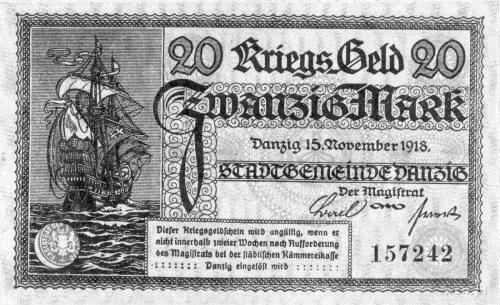 20 marek 15.11.1918, Pick 10, na odwrocie stempel \Ungü...