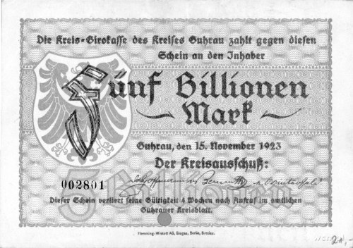 Góra /Guhrau/- 5 bilionów marek 15.11.1923, A. Keller 2...