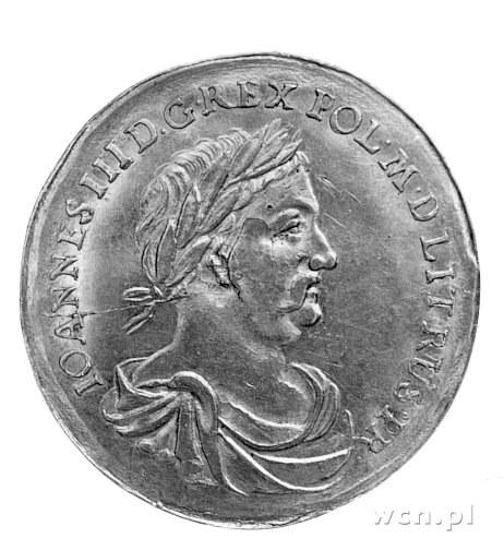 medal Jana III Sobieskiego 1677 r., Aw: Popiersie w tod...