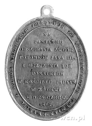 medalik owalny z uszkiem na pamiątkę odnalezienia szczą...