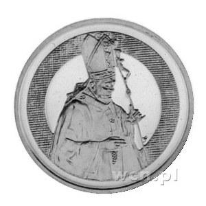 medal papieża Jana Pawła II 1986 r., Aw: Postać trzy cz...