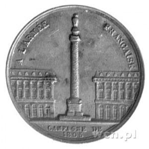 medal autorstwa Montagny' ego na zwycięstwa roku 1805, ...