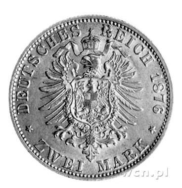 2 marki 1876, J. 61, bardzo rzadkie w tym stanie zachow...