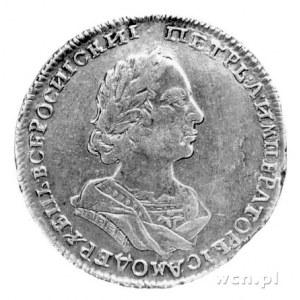 połtina 1723, Moskwa, Aw: Popiersie bez znaku mincerza,...