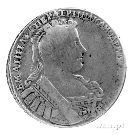 połtina 1732, Aw: Popiersie, Rw: Orzeł dwugłowy, Uzdeni...