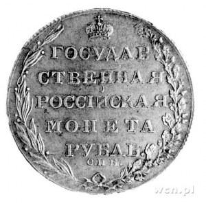 rubel 1803, Sankt Petersburg, Aw: Orzeł dwugłowy, poniż...
