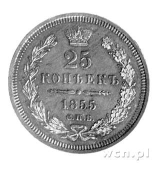 25 kopiejek 1855, Sankt Petersburg, Uzdenikow 1722.