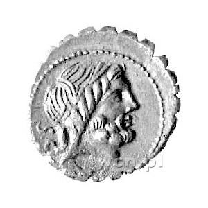 Q. Antonius Balbus, denar 83- 82 pne, Aw: Głowa Jupiter...