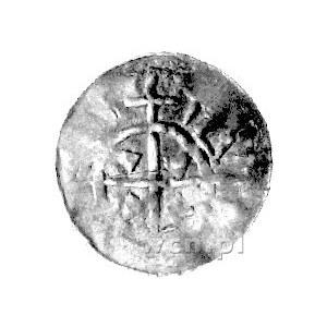 Flandria, denar, Aw: Długi cienki krzyż i napis w otoku...