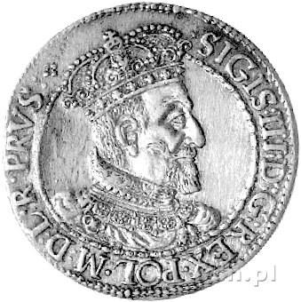 ort 1618, Gdańsk, odmiana z literkami SA i rozetką, Kur...