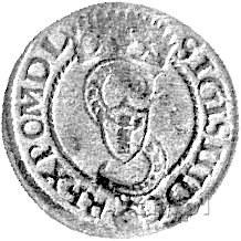 szeląg 1594, Olkusz, Kurp. 118 R3 - przebitka daty 1593...