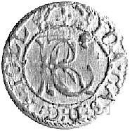 szeląg 1652, Wilno, ciekawa odmiana z ozdobnikiem po da...