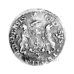 trojak 1758, Gdańsk, Kam. 939 R2, Merseb. 1803, patyna.