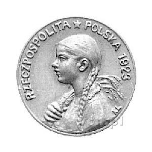 50 bez oznaczenia nominału 1923, Popiersie dziewczyny z...