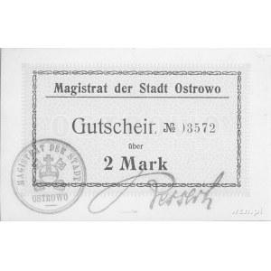 Ostrów Wielkopolski (Ostrowo)- 2 marki b.r. (1914) emit...