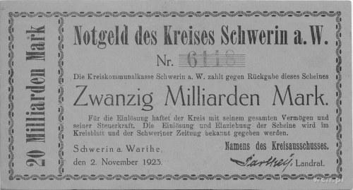 Skwierzyna (Schwerin a. Warthe)- 20 miliardów marek 2.1...